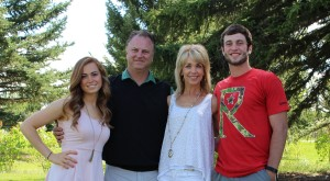 Chiropractor Dr. Linebarger and his family in Bozeman, MT